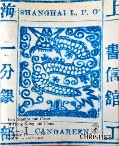 Auction Catalog Stamps Covers of CHINA & the RH Taylor HONG KONG POSTAL HISTORY