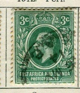 BRITISH KUT; 1912 early GV issue fine used 3c. value