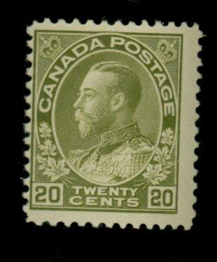 Canada #119 MINT F-VF OG NH Cat$250