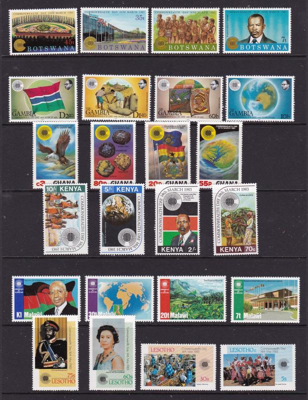 Africa Various countries x 6 Commonwealth Day sets MNH