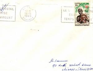 Dahomey 50F Ouidah Witch Doctor with Rock Python 1965 Cotonou, Dahomey Le Che...