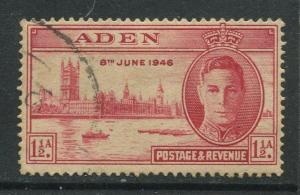 STAMP STATION PERTH Aden #28 Peace Issue 1946 Used CV$1.50.