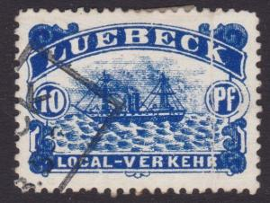 GERMANY LUEBECK An old forgery of a classic stamp...........................5514