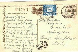 GB Wales Unpaid Postcard *4d/ TO PAY/ 096* Llandudno Colwyn Bay 1952 ZB150