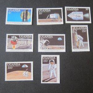 Uganda 1989 Sc 693-700 stamps space set MNH