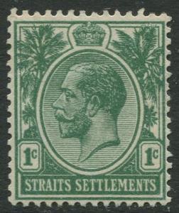 Straits Settlements - Scott 149 - KGV Definitive - 1912 - MNG - 1c Stamp