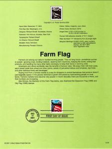 US SP1393 Farm Flag 3495 Souvenir Page FDC