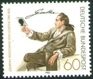 Germany Scott 1369 MNH** 1982 Goethe stamp CV$1.75