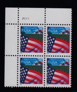2000 issue  Sc 3448 Flag over Farm plate block