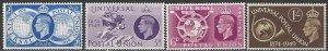 Great Britain  276-9  MNH  UPU 75th Anniversary 1949