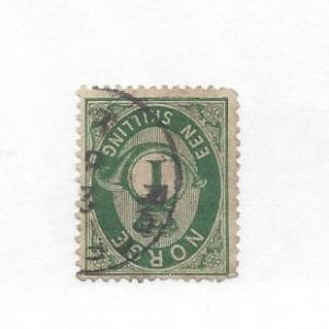 Norway, 16, Post Horn and Crown Single, **Used** #3