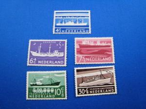 NETHERLANDS - SCOTT #B306 - B310   SHIPS    MLH