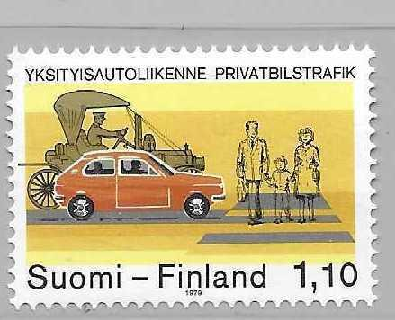 Finland 624 1979 Road Safety single MNH
