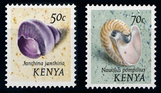 [66018] Kenya 1974 Marine Life with Different Name Seashells MLH