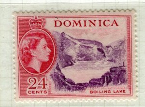 DOMINICA; 1954 early QEII issue fine Mint hinged 24c. value