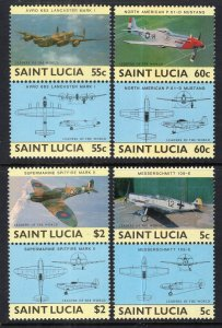 St Lucia 762-765 Airplanes MNH VF