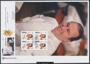 17-Jan-2014 Australia Legands Of Cooking Neil Perry Prestige Booklet Wesley FDC