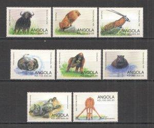 Angola MNH Set Of 8 Wild Animals 1998
