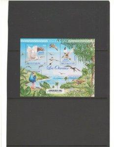 WALLIS & FUTUNA ISL: New Issue/ Beautiful AQUATIC BIRDS / Sheet of 4- MNH.