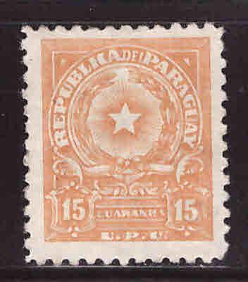 Paraguay Scott 533 MH* coat of arms stamp wmk 319 CV$10