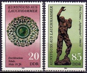 GDR. 1984. 2874-75. Sculptures. MNH.