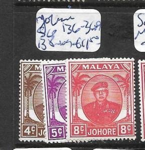 MALAYA JOHORE (P0601B) SG 136-136A, 138  MOG