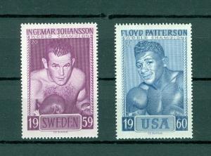USA. 2 Poster Stamp 1964 Mnh.Boxing World Champ. Fight:Ingmar J & Floyd P.Slania