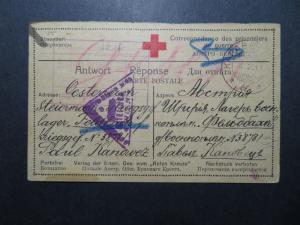 Czechoslovakia 1917 Kapaba POW Card / Multi Censor - Z11324