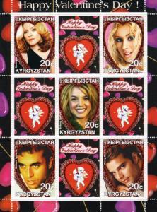 Kyrgyzstan 2001 Happy Valentine's Day Madonna/Christina Aguillera Sheetlet (9)