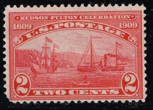 US STAMP #372 1909 2¢ Hudson-Fulton Celebration UNUSED NG STAMP