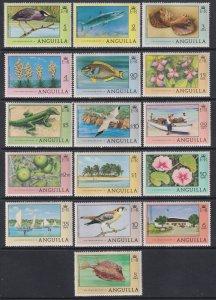 1977 - 1978 Anguilla Marine Life & Birds set MNH Sc# 275 / 290 CV: $34.35
