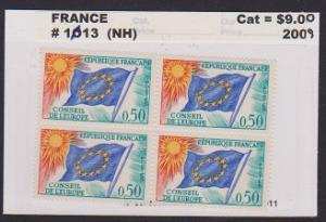 FRANCE STAMPS MNH -OFFICIAL STAMPS 1965-71  BLOCK . LOT#F38