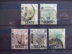 Hong Kong QV SG 48, 48a, 49, 42, 43