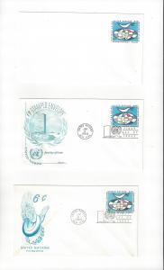 United Nations U4 Postal Stationery,  Mint, Fleetwood & Anderson Cachets