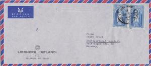 Ireland 3d St. Patrick (2) 1961 Cill Airne Airmail to Stuttgart, Germany. Ill...