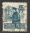 MEXICO 825 VFU POSTMAN Z1162-1