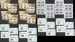 BU02 IMPERF,PERF 2011 BURUNDI FAUNA WILD ANIMALS RHINOCEROS !!! 16KB+16BL MNH
