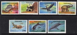 Tanzania 1287-94 MNH Endangered Animals, Tiger, Panda, Seal, Koala, Elephant