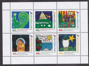 New Zealand # 2093a, Christmas Children's Drawings, Souvenir Sheet, NH, 1/2 Cat.