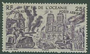 Polynesia SC#C15 Chad to Rhine  Issue, 25fr, MH
