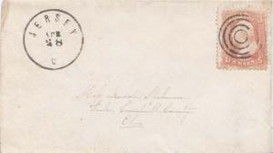United States Ohio Jersey c1865 target  1833-1907  3c Washington 1861 Issue  ...