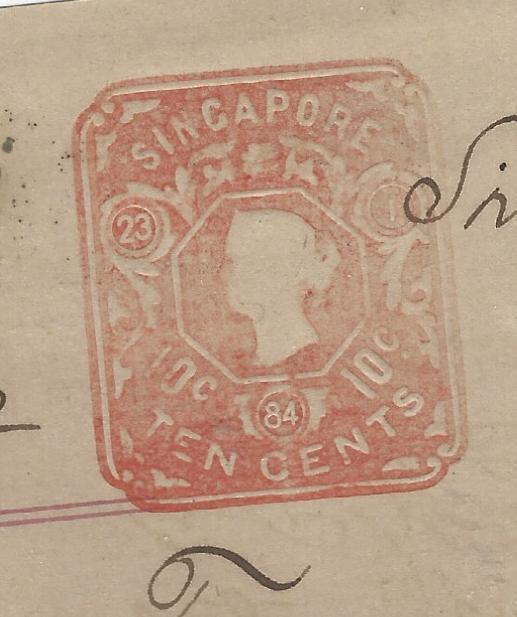 MALAYA STRAITS SETTLEMENTS (P1109B) QV EMBOSSED 10C ON 1884 PROIMISSORY NOTE