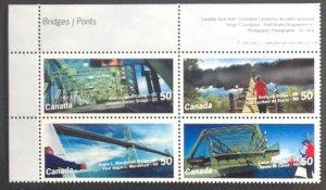 CANADA 2005 BRIDGES BLOCK SG2345/8 MNH