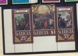 St. Lucia Stamp Scott #277a, Mint Never Hinged