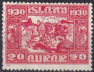 Iceland #157 F-VF Used CV $90.00 (Z6466)