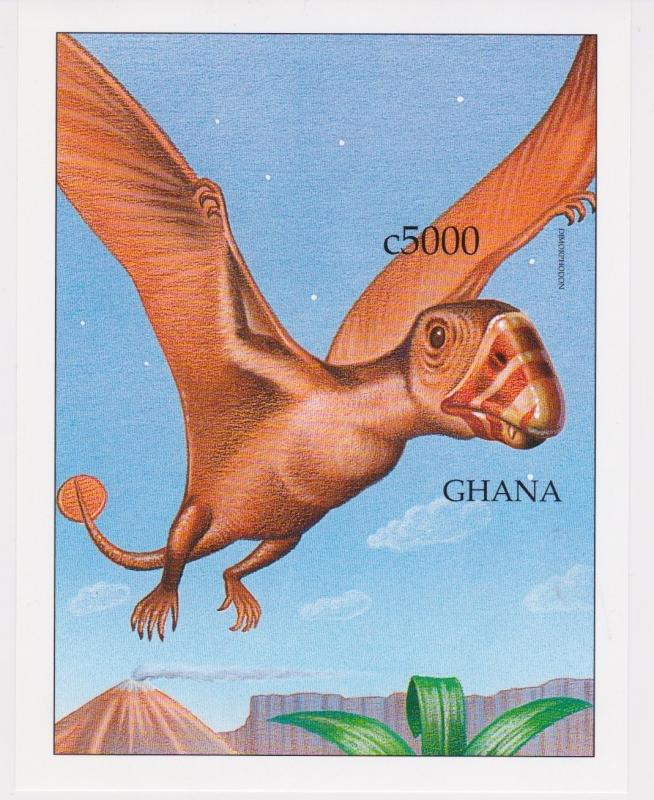 Ghana - Dinosaurs, Prehistoric Animals, 1999 - Sc 2092 S/S MNH - IMPERFORATE