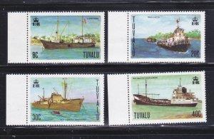 Tuvalu 77-80 Set MNH Ships (D)