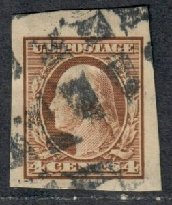 $US Sc#346 used, Superb JUMBO imperf!, Cv. $20
