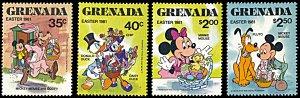 Grenada 1041-1044, MNH, Disney Easter Baskets