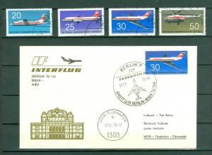 Germany. DDR. FF Cover 1970. Interflug TU 134. + Set Sc#.1156-7-8-9.